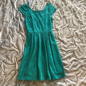 Francesca's teal lace dress size small